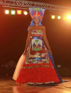 Haiti at an event it was hosting.  Beautiful flag!