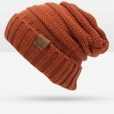 2017 New Fashion CC Thick Warm Winter Hat For Women Skullies Beanies For Women Hat Cap Knitted Hat Female Cap Warm Cap Beanie