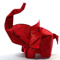 Elephant in the room No.8 3D free style origami sculpture by JinniInTheLamp…