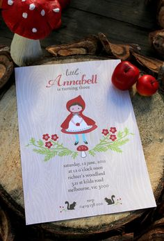 Little Red Riding Hood party invitations