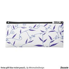 Swim gift blue violet pencil case  Clutter is no good muse for writing or drawing ! Keep all your writing tools organized in this blue-violet pencil case. Your pens and pencils will be easy to reach in this minimalist pencil case which could always double as a swimmer gift!   Copyright © 2017, Anca Ioviţă #zazzle #blue #violet #indigo #mauve #minimalist #minimalism #pen #pencil #case #writing #swim #gifts #ocean #seaside