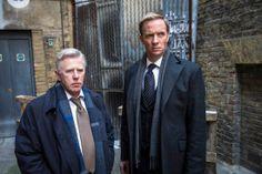 PHIL DAVIS as DS Ray Miles RUPERT PENRY JONES as DI Joseph Chandler in Whitechapel