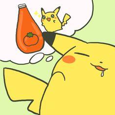 #pikachu #pokemon #ketchup