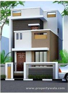 New house facade design stones doors ideas Design Apartment, Bungalow House Design, House Front Design, Small House Design, Modern House Design, Layouts Casa, House Layouts, Independent House, 3d Home