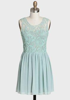 mint. lace. dress.
