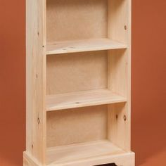 This classic bookcase is handcrafted with quality pine by David Riehl.