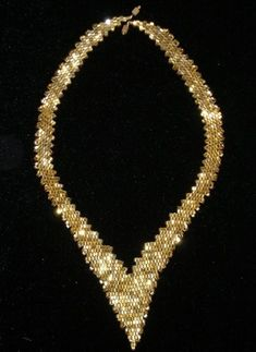 Necklaces of beads. There is a