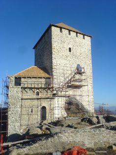 Vršac Tower under reconstruction, Serbia