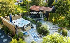 Familjens uteplats deluxe - My home Outdoor Spaces, Outdoor Living, Greenhouse Gardening, Modern Landscaping, Backyard Patio, Dream Garden, Amazing Gardens, Outdoor Gardens, Garden Design
