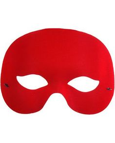 Cocktail Red Mardi Gras Mask