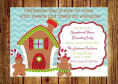 Gingerbread Decorating Party Invitation by InvitesByChristie, $12.00