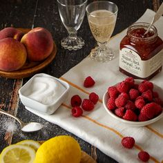 What happens when you combine sweet peaches, refreshing raspberries, a bit of sugar, a dash of lemon and a splash of champagne? POP, our Raspberry Peach Champagne Jam happens! #Tasteof25Years