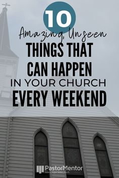 Attend any church next Sunday and you'll see the usual obvious things taking place. But far more impressive unseen things are happening. Church Ministry, Youth Ministry, Ministry Ideas, Church Welcome Center, Capstone Project Ideas, Church Fellowship, Church Outreach, Church Design, Spiritual Life