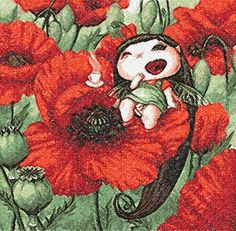 Poppy fairy photo stitch free embroidery design - Photo stitch embroidery designs - Machine embroidery community