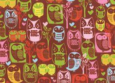 Hoffman Woodland Creatures Owls Woodstock Red