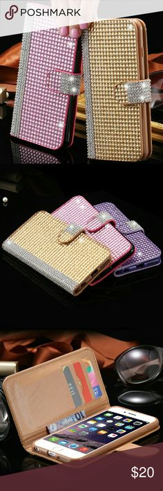 • IPHONE 6S PLUS Rhinestones Wallet Case • Rhinestones Wallet Cases for iPhone 6S Plus. New Without Tags (NWOT). RETAIL product from my business store. Not branded only for exposure. Available in 2 different colors : Black & Blue!  $20 EACH!!!  Interested in phone accessories? Ask me for any phones!!!  ◾Price Firm◾ Michael Kors Accessories Phone Cases