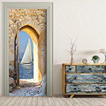 Türtapete selbstklebend TürPoster - SEGELBOOT - Fototapete Türfolie Poster Tapete Meer