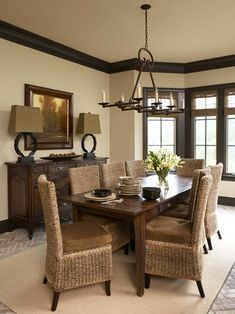 Dark Trim Design, Pictures, Remodel, Decor and Ideas - page 4..love this for possible new dining room.... i already have the chairs