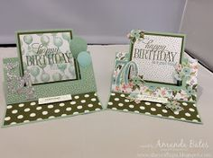 The Craft Spa - Stampin' Up! UK independent demonstrator : Birthday Bouquet Swing Easel Card Twins