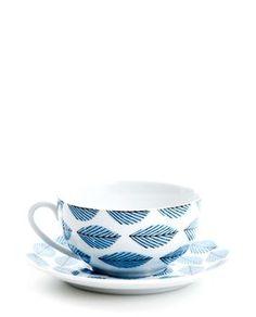 Arbour Harbour Unterteller & Tasse mit Henkel blue