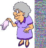 lady with hankie