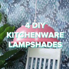 Transform Kitchenware Into Modern Lampshades