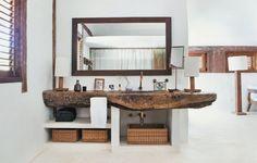 plan vasque –bois-massif-brut-paniers-rangement-tressés