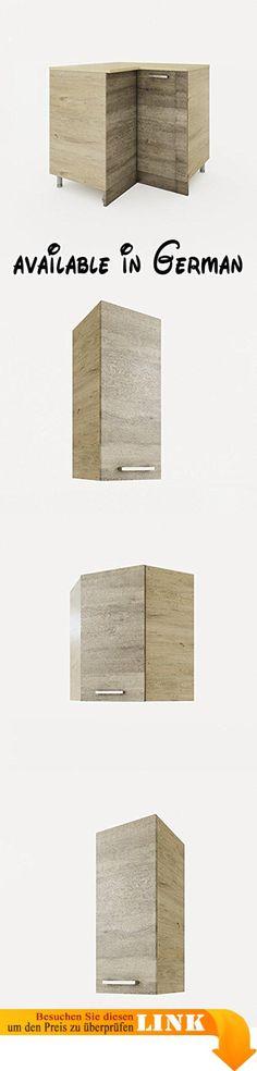 B017JLVF0G  Spülenunterschrank Salerno 100 cm Melamin weiss - küchen arbeitsplatte sonoma eiche