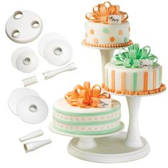 Wilton 3 Tier Pillar Cake Stand Wedding Dessert Tree Party Cupcakes Baby Shower