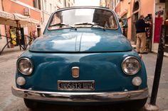 Vintage #FIAT car in #Trastevere, Rome.