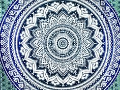 Mandala Tapestry Dorm Room Decor Wall Hanging by MandalaTapestrys