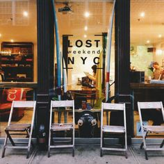 Lost Weekend NYC It's a surf board boutique...no coffee spot..no boutique...ah! #cafe #americano #surfboards #les