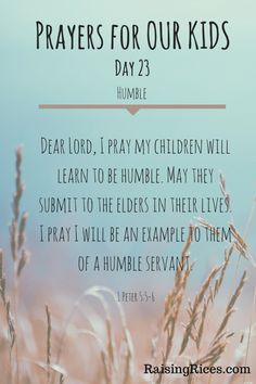 Prayer for our kids
