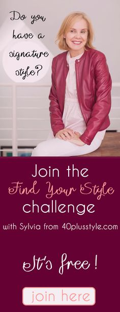 The FREE Find Your Style challenge  helps women over 40 ignite their style! Click on the image to join.