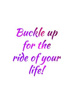 Buckle up for the ride of your life