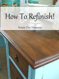refinishing furniture - Google Search