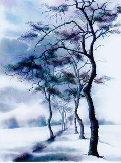 """Résultat de recherche d'images pour """"aquarelle chinoise arbre"""""""