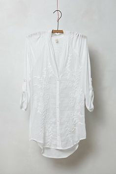 Stitched Eclipse Buttondown // Anthropologie #anthropologie