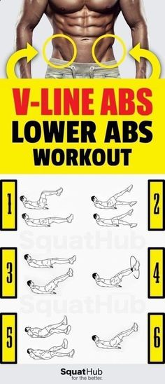 There's nothing more sexy than those V-line abs, also known as V-cut abs, or sex lines. So try these six abdominal exercises to tone and define your lower abs. You don't need any equipment, just a mat to sit comfortable. You can even do these abs exercise Fitness Workouts, At Home Workouts, Fitness Tips, Health Fitness, Fitness Plan, V Line Abs, Sixpack Workout, Ectomorph Workout, Endomorph Diet