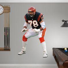 Anthony Muñoz REAL.BIG. Fathead – Peel & Stick Wall Graphic   Cincinnati Bengals Wall Decal   Sports Home Décor   Football Bedroom/Man Cave/Nursery