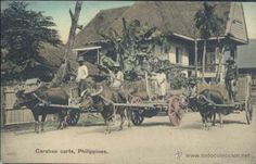 CARABAO CARTS, PHILIPPINES (Postales - Postales Extranjero - Asia - Filipinas)