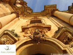 A detail of the Baroque Cathedral dedicated to San Giorgio, Modica - SICILY