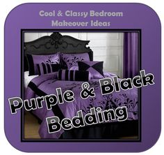 Comfy Bed, Black Bedding, Purple And Black, Master Suite, Sleep, Cool Stuff, Bedroom, Luxury, Top