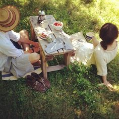 Sweet Country Life ~ Simple Pleasures ~ picnic bench