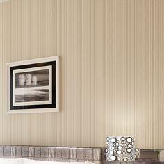 Classic Flocking Plain Stripe Wallpaper WP16