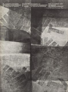 Hans Ferdinand Egli: Typographische Monatsblätter – cover from 1968 issue 11
