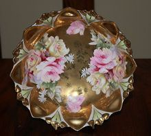 RS Prussia Mold 98 Gold Footed Bowl Germany
