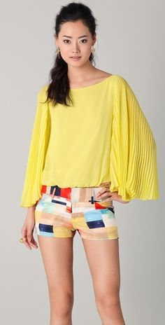 Briar Pleated Bell Sleeve Top