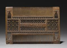Comb, 1400s France, Gothic period, 15th century