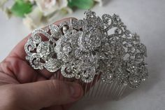 Mademoiselle  Swarovski crystal and pearl elegant by simplychic93, $76.00